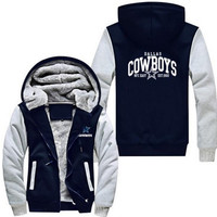Dallas Cowboys Zipper Jacket Hoodie Coat USA size Men Women