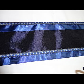 Wool with Zig Zag pattern ribbon Bar Mitzvah Tallit