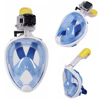 Underwater Diving Mask Snorkel Set Swimming Training Scuba mergulho full face snorkeling mask Anti Fog For Gopro Camera