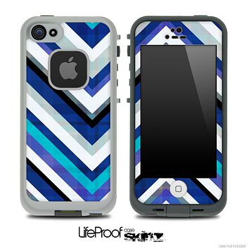 Color Blues Vintage V4 Chevron Skin for the iPhone 5 or 4/4s LifeProof Case