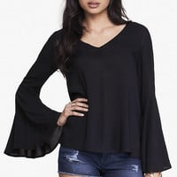 BELL SLEEVE BLOUSE from EXPRESS