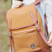 Brown Oceanic Sailor Canvas Anchor Backpack from SarahHunt