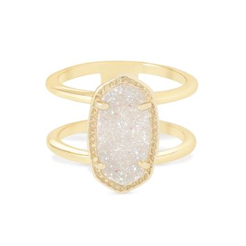 Kendra Scott Elyse Iridescent Drusy Gold Ring