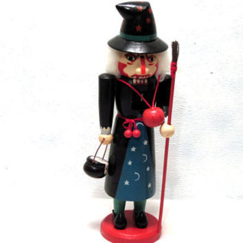 Witch, Wooden, Nutcracker, Collectible, Halloween, Goth, Boo, Spooky, Scary, Wood, Punk, Monster, Horror, Trick or Treat, Decor, Decoration