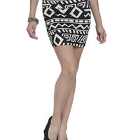 Geo Stripe Bodycon Skirt | Shop Bottoms at Wet Seal