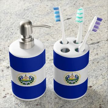 Flag of El Salvador Bathroom Set