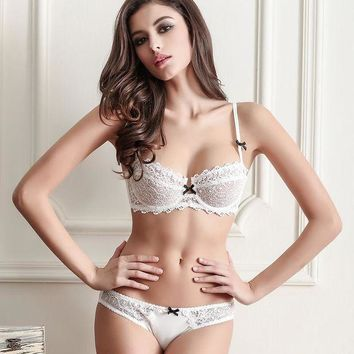 ac DCK83Q Hot Deal Cute On Sale Ladies Sexy Transparent Bra Set Exotic Lingerie [42890002457]
