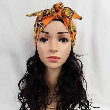 African Headties Sego Gele Head Tie for Women African Cotton Wax Print