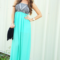 Light Me Up Dress: Caribbean Green