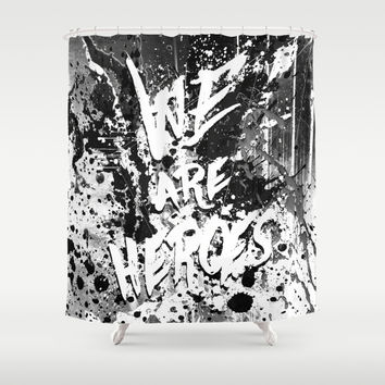 Hero Sessions II Shower Curtain by HappyMelvin
