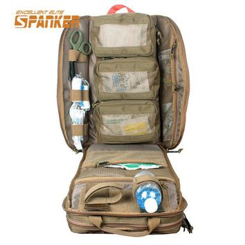DCCKHG7 SPANKER Tactical MOLLE Medical Backpack Military First Aid Kit Backpack Emergency Assault Combat Rucksack Outdoor Hunting Bags