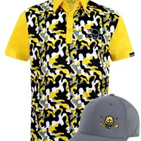 Camo ProCool Men's Golf Shirt & Golf Hat (Yellow)