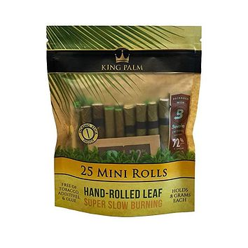 King Palms Super Slow Burning Wraps - Minis (25 Pack)