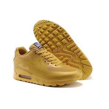 Men s Women s Nike Air Max 90 American Flag Shoes Gold