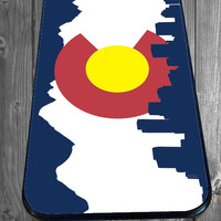 Colorado Flag With Skyline for iPhone 4/4s/5/5S/5C/6, Samsung S3/S4/S5 Unique Case *95*