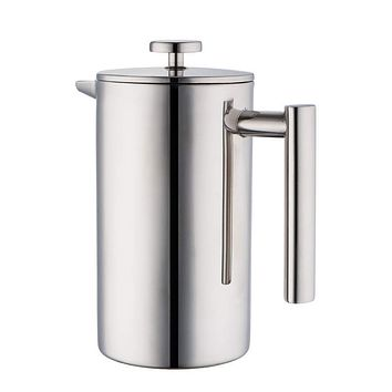 Stainless Steel French Press Coffee Maker with Double Walled Insulated Pot