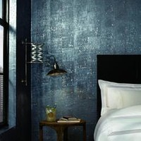 Cork Wallpaper in Blues from Industrial Interiors II by Ronald Redding – BURKE DECOR