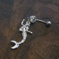 Rhinestone Mermaid Belly Button Ring