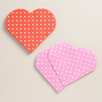 Heart Beverage Napkins 24 Count