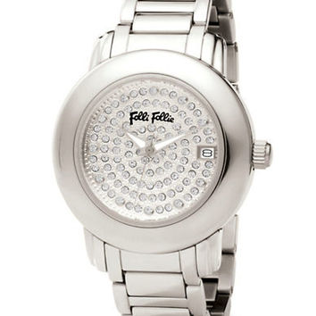 Folli Follie Ladies Urban Spin Stainless Steel Crystal Watch