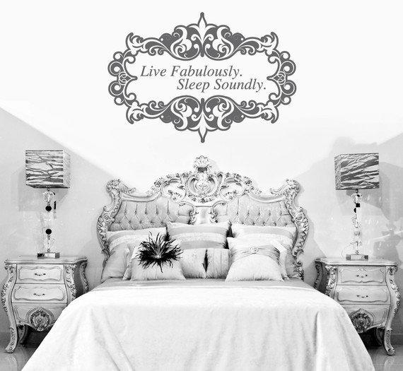 Live Fabulously Sleep Soundly by urbanwalls on Etsy
