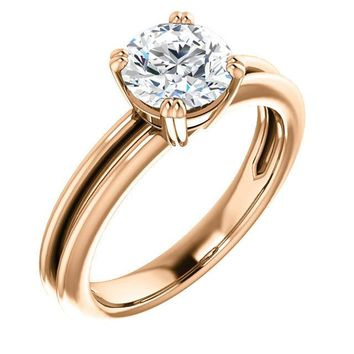 1.25 Ct Round Solitaire Diamond Engagement Ring 14k Rose Gold