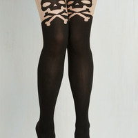 Statement Make No Crossbones About It Tights Size OS by ModCloth