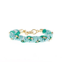 Liberty crystal braid bracelet - bracelets - Women's jewelry - J.Crew