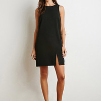 Notched-Front Shift Dress