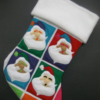 Pop Art Santa Christmas Stocking