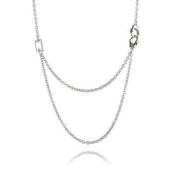Sterling Silver Necklace with Handcuffs and Plaque