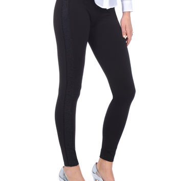 Lysse Lace Trim Ponte Ankle Leggings