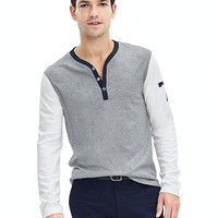 "Banana Republic Mens Luxe Touch ""78"" Henley"