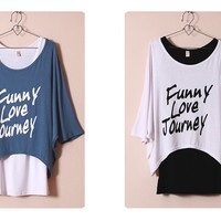 Two-piece Loose Top/T-Shirt & Vest