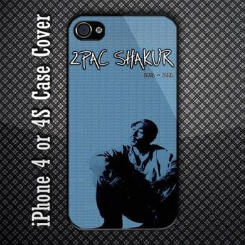 New 2Pac Tupac Shakur Custom iPhone 4 or iPhone 4S Case