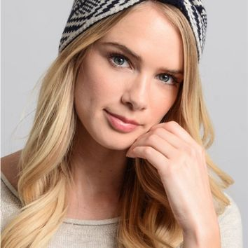 Fair Isle Bow Headband