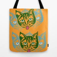Mollycat Orange Tote Bag by Alan Hogan | Society6