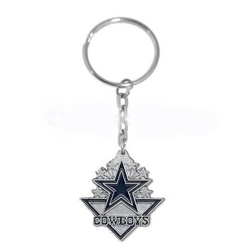 Fashion 25pcs a lot  zinc alloy  enamel  Dallas Cowboys Charms Keychain