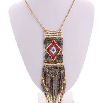 Exaggerated Retro Bohemian Style Choker Necklace