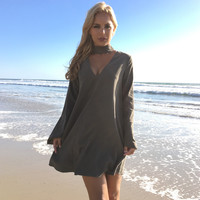 Purity Shift Dress In Olive