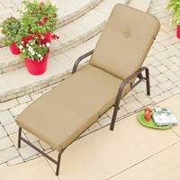 Mainstays Lawson Ridge Cushion Chaise Lounger - Walmart.com