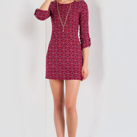 Sienna Printed Sweater Dress