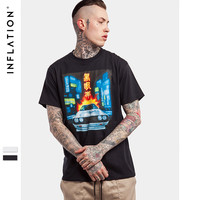 New Arrival Leisure Loose Tshirt Printed Tees Hip Hop High Street Men T-shirt Urban Streetwear T shirt