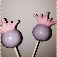 Cake Pops: Birthday Princess Tiara Cake Pops! Chocolate cake pops