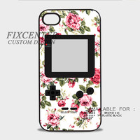 Floral Gameboy Plastic Cases for iPhone 4,4S, iPhone 5,5S, iPhone 5C, iPhone 6, iPhone 6 Plus, iPod 4, iPod 5, Samsung Galaxy Note 3, Galaxy S3, Galaxy S4, Galaxy S5, Galaxy S6, HTC One (M7), HTC One X, BlackBerry Z10 phone case design