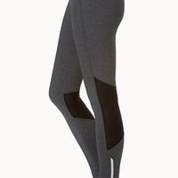 Mesh-Trimmed Skinny Workout Leggings