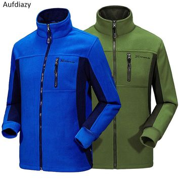 Aufdiazy Men Women's Winter Fleece Softshell Outdoor Jackets Sports Brand Clothing Hiking Skiing Camping Male Female Coats JM081