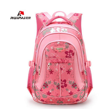 Orthopedic School Bag for Teenage Girls Oxford Printing Backpacks Bookbag Unisex  Student School Bags Sac A Dos Laptop Mochila