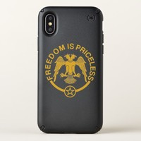 Freedom is Priceless iPhone X Case. Speck iPhone X Case