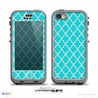 The Morocan Teal Pattern Skin for the iPhone 5c nüüd LifeProof Case